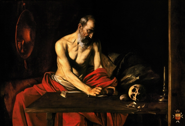 Saint_Jerome_Writing-Caravaggio_(c._1607)