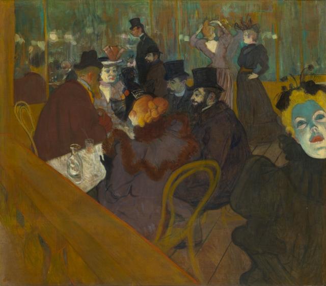 quadro Toulouse-Lautrec Moulin Rouge assenzio